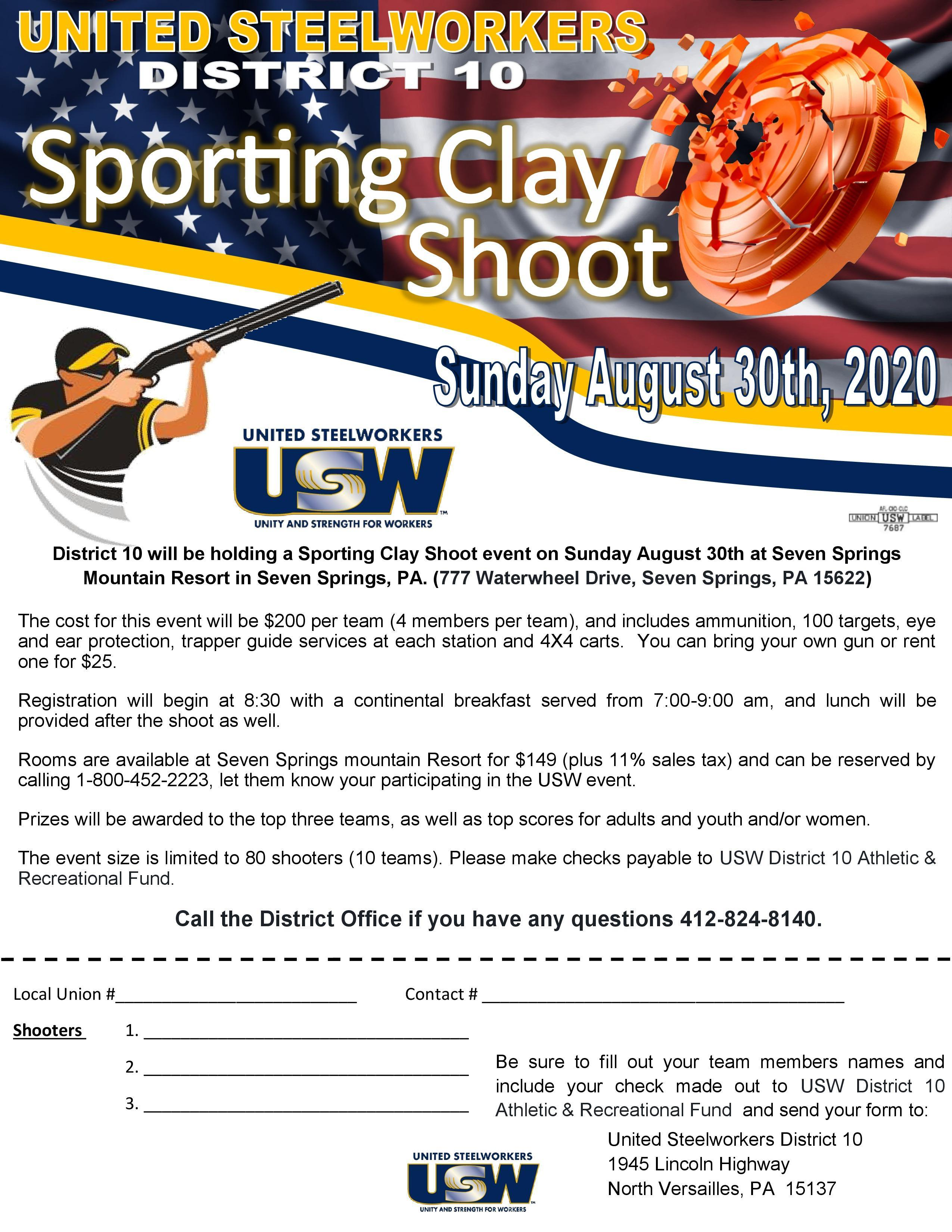 2020 Clay Shoot - District 10